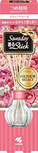 サワデー香るスティック日比谷花壇セレクト 消臭芳香剤 本体 スウィートローズ 70ml