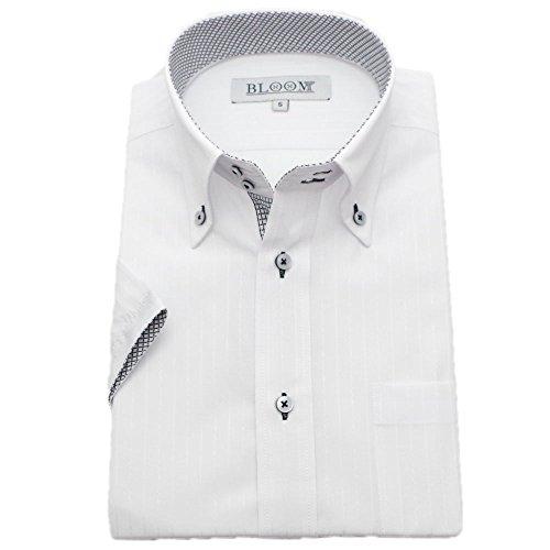 (ブルーム) BLOOM 2018夏 オリジナル 半袖 ワイシャツ クールビズ yシャツ S/M/L/LL/3L/4L/5L/6L 10柄 形態安定 ドゥエボットーニ ボタンダウン