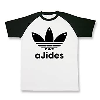 AJIDES アジデス ajides イチロー パロディ ネタ 個性派 おもしろ ラグラン半袖Tシャツ
