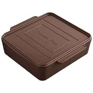トースター 調理器 簡単 時短 フッ素樹脂加工 レシピ付き 葛恵子のトースタークッキング専用トースターパン スクエア26cm ブラウン A-76233
