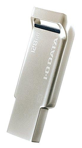 I-O DATA USBメモリー/128GB/USB 3.0 対応/アルミボディ/1年保証/シルバー/U3-AS128G/S