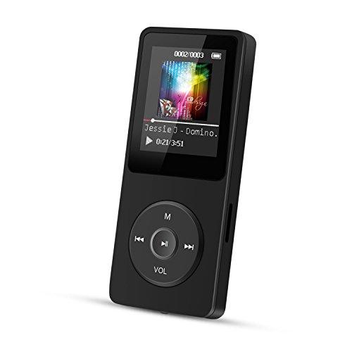 AGPtEK A02 音楽再生なら最大70時間のロスレスサウンドMP3プレーヤー(容量8GB)(ブラック)