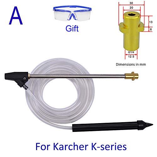 高圧洗浄機サンドウェットブラストキットKarcher Bosch AR Makita Black Decker ZAOH HITACHI Nilfisk IRIS OHYAMA および一部の両備高圧洗浄機と互換性のあるウェットサンドブラスター (A. Karcher Kシリーズと互換性あり)