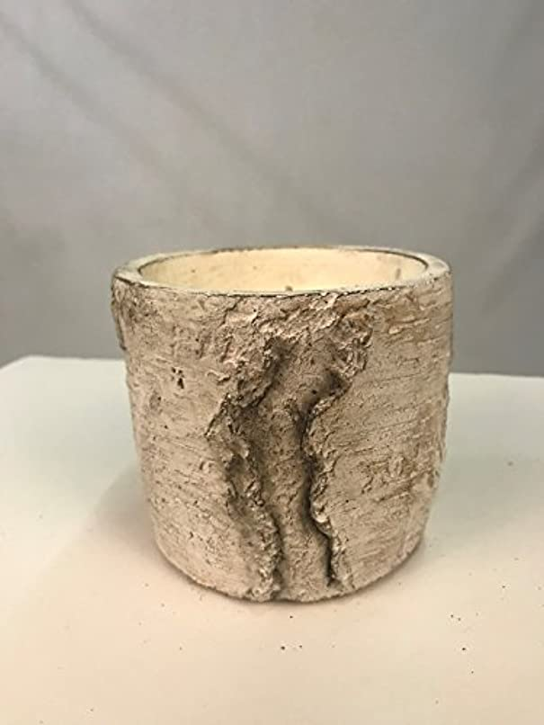彫る進む連帯Swan CreekホワイトWoods Pottery candle-vanilla Pound Cake