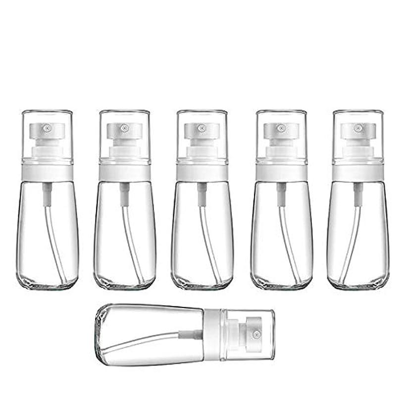 驚明らかにする驚YXC 良質の PETG小分けボトル トラベルボトル スプレーボトル 家に清潔消毒 緑の植物に水遣る 6本セット 日本小スプレーボトル 化粧水 詰替用ボトル 旅行用品 (60ML6本)