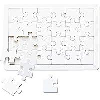 白パズル A4サイズ ホワイトパズル メッセ-ジパズル 無地パズル ラージピース