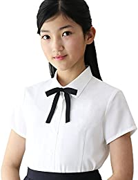 ショパン(CHOPIN) 8833-2501 フォーマル半袖シャツ リボン付 140 150 160cm (ホワイト, 140)