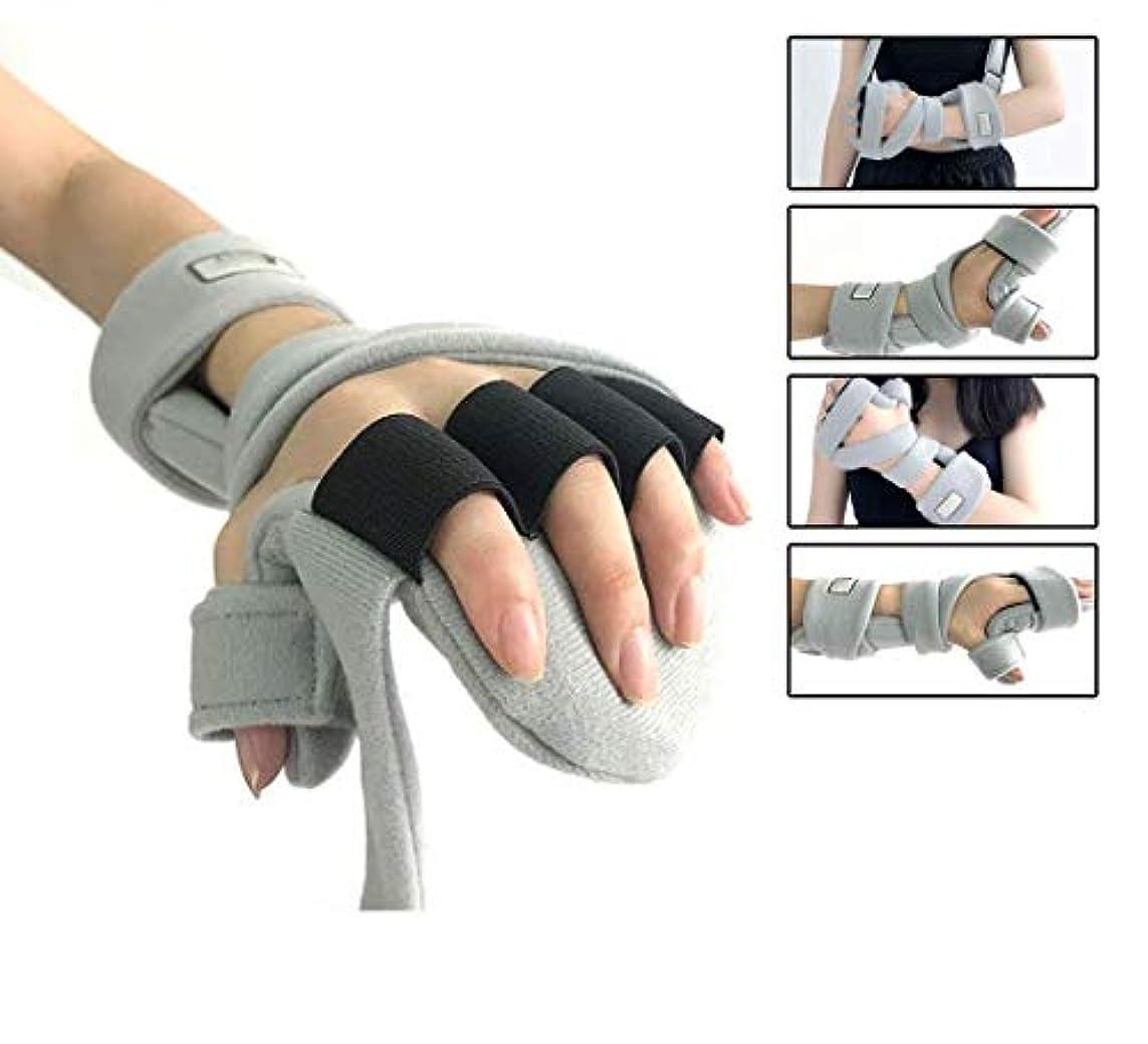 圧縮された酸化物貸す手首サポート副木サポート、痛み腱炎のための指手首骨折固定足場骨折関節炎脱臼捻rain,Lefthand