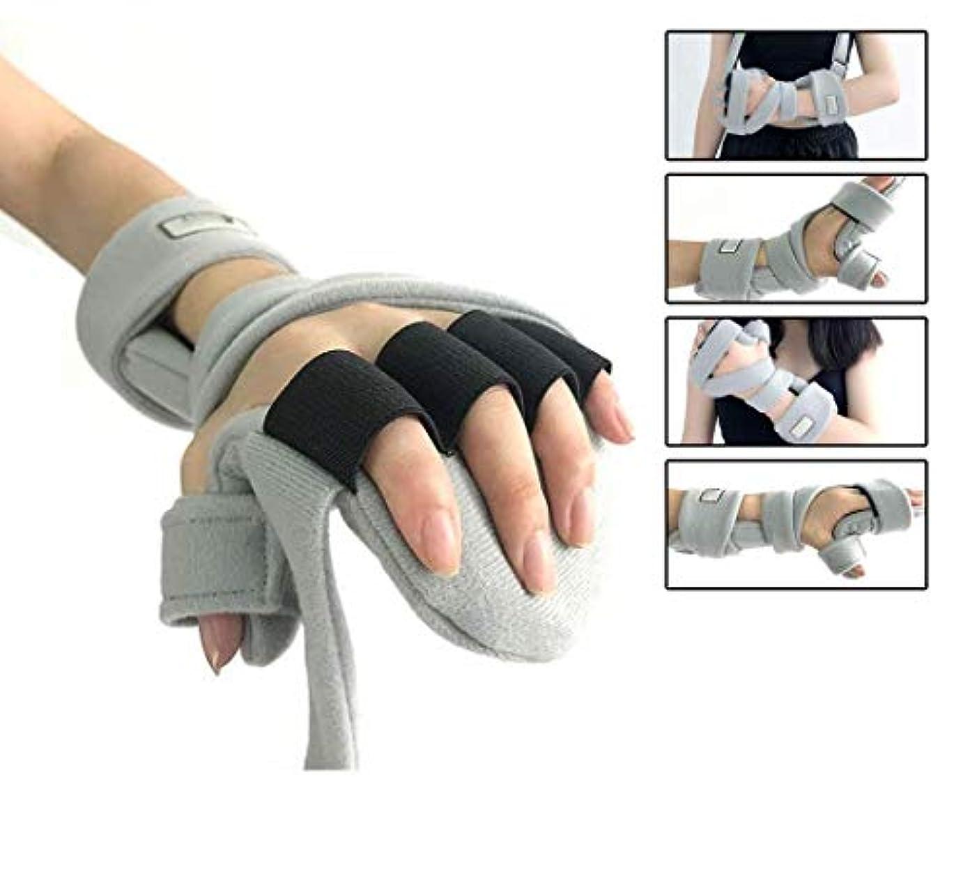 講堂ムスタチオ受け入れる手首サポート副木サポート、痛み腱炎のための指手首骨折固定足場骨折関節炎脱臼捻rain,Lefthand