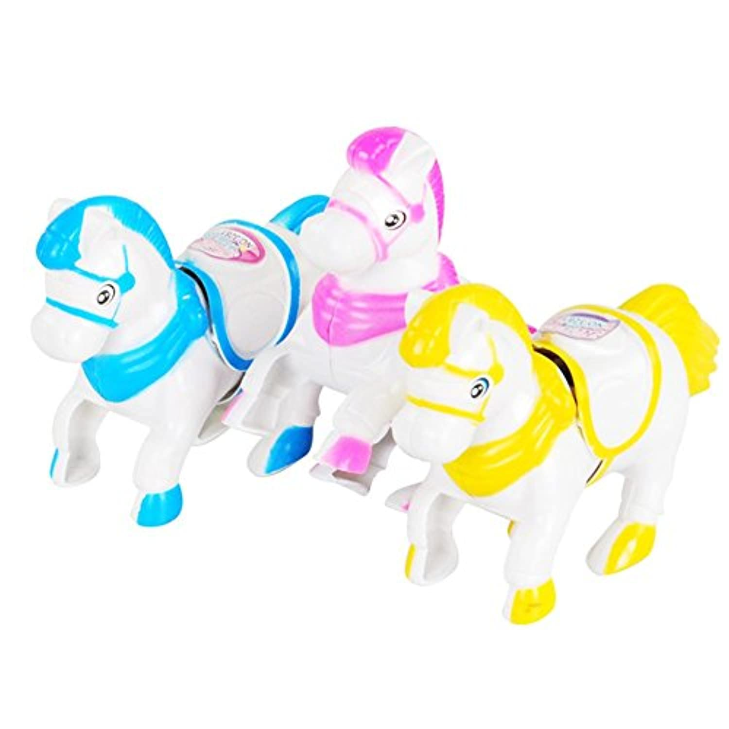 BleuMoo Up Plastic Clockwork Spring Wind Up Horse Shaped Toys Gift For Children Kids