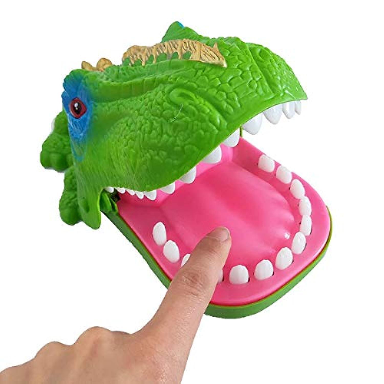 POOMホットビッグ実用ジョーク電気かむ恐竜歯咬傷指大人バーいたずらゲームキッズ子供おかしい教育玩具ギフト