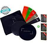 Premium-Quality Booty Bands, Exercise Sliders, Abs Slider, Double-Sided Core Sliders Gliding Discs (Set of 2), Resistance Bands (Set of 5)