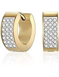 Mestige Gold Rosie Cuff Earrings with Swarovski® Crystals, Gifts Women Girls, Bridal Jewellery