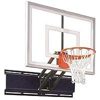 最初チームUnichampターボsteel-glass調節可能な壁マウントバスケットボールsystem44 ; grey44 ;調節可能な壁マウントバスケットボールシステム