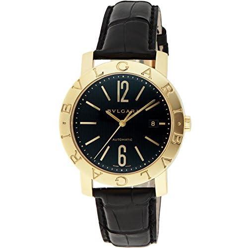 [ブルガリ]BVLGARI 腕時計 ブルガリブルガリ ブラック文字盤 自動巻 K18YG無垢 アリゲーター革 BB42BGLDAUTO メンズ 【並行輸入品】