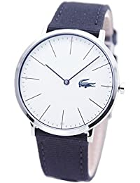 [ラコステ]LACOSTE メンズ シルバーケース ホワイト文字盤 ネイビー ナイロン レザー 2010914 腕時計 [並行輸入品]