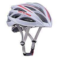 perfk マウンテンバイクヘルメット GUB SV8+インモールド 自転車ヘルメット 炭素繊維 超軽量 自転車ヘルメット 全4色 - 銀