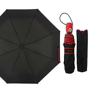 梅の花 (SUSINO)折りたたみ傘 折り畳み傘 メンズ 自動開閉 折り畳み傘 軽量 ワンタッチ開閉式 高強度グラスファイバー仕様 傘 かさ 傘 メンズ 雨傘16301AC(16301 レッド)