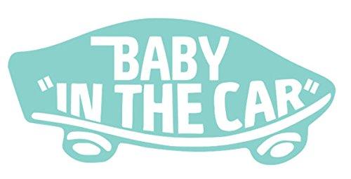 【全16色】人気!ベイビー イン カー ステッカー!Baby in car Sticker /車用/シール/ Vinyl/Decal /バイナル/デカール/ステッカー/BIC-2 (ミント) [並行輸入品]