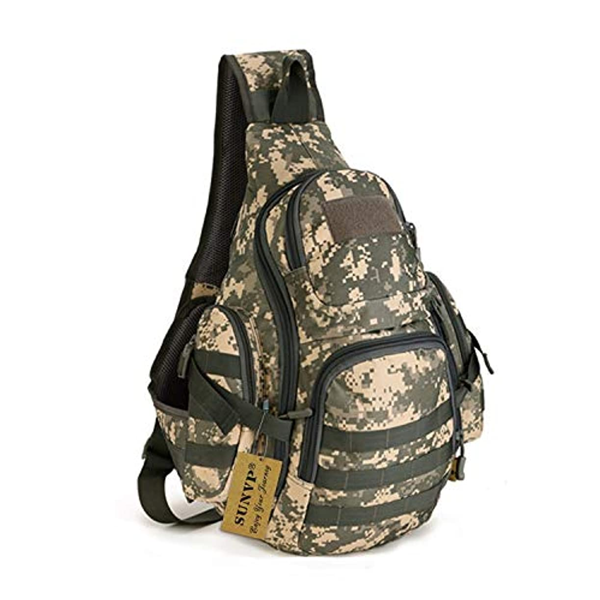 鎮痛剤電話の前でProtector Plus Tactical Military Daypack Sling Chest Pack Bag Molle Laptop Backpack Large Shoulder Bag Crossbody Duty Gear For Hunting Camping Trekking [並行輸入品]