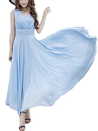 0a1af42f6378b  ゴラッソ  ワンピースドレス マキシ丈 スカイブルー S ドレス オフショル キャバ服 キャバドレス