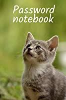 Password notebook: Alphabetical Internet password organizer with cat. Logbook with Tabs. Dimension  6''x9''. Great gift for mom, woman, grandmother, man, girl, kids, friend, sister, cats lovers.
