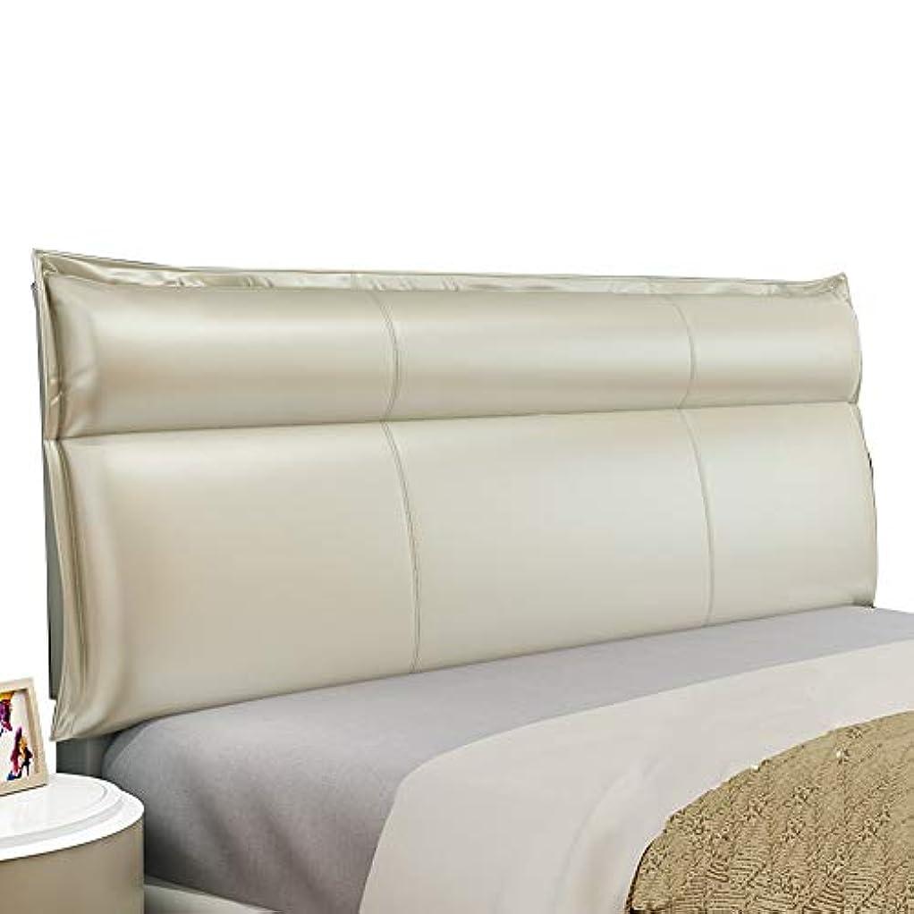 枯渇押し下げる努力するLIANGLIANG クションベッドの背もたれ100%スポンジ ウエストパッド サポート ダブルエクストララージ 二段デザイン シンプルでモダン PU 6色 (色 : ゴールド, サイズ さいず : 130x60x10cm)