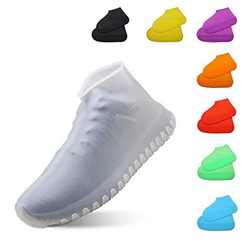 [todaysunny] シューズカバー レディース メンズ キッズ 防水 レインシューズ レインブーツ 靴カバー アウトドア防水靴カバー シリコンシューカバー 軽量 滑り止め 携帯便利 梅雨対策 男女兼用 子供も適用 ホワイトL