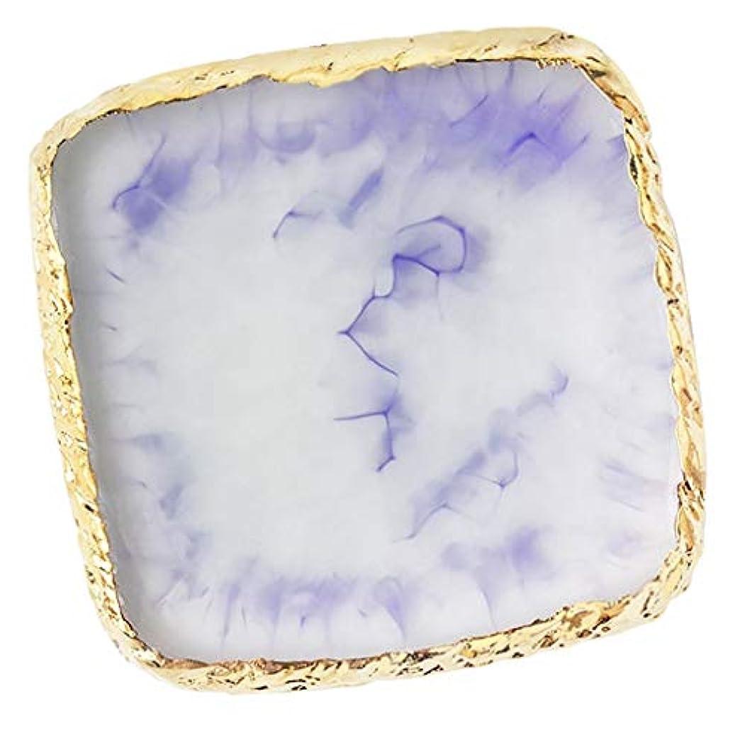 脇に死増幅Perfeclan ネイルアートパレット ネイルパレット ネイルアート カラープレート メイクミキシング 全6色 - 紫