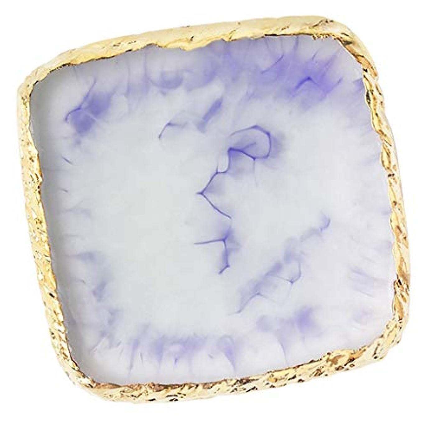 体操選手アンテナ甘美なネイルアートパレット ネイルパレット ネイルアート カラープレート メイクミキシング 全6色 - 紫