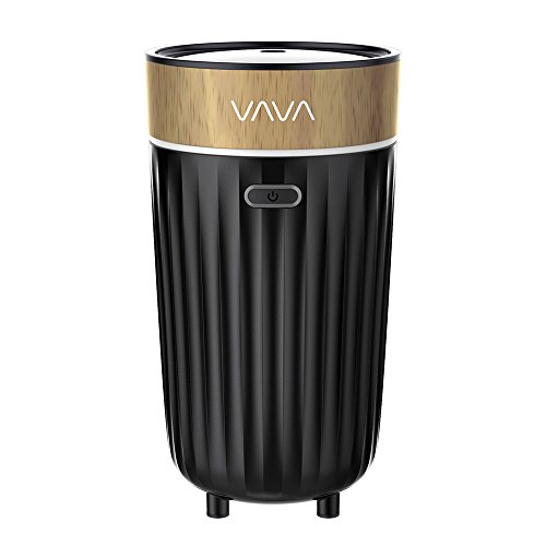 VAVA アロマディフューザー 車載アロマ 車用加湿器 カーカップホルダー用 USB電源 コンパクト DC 5V 1A電源 ミストモード切替 エアスルーデザイン 自動停止装置 PP&BPA不使用設計 VA-AD008