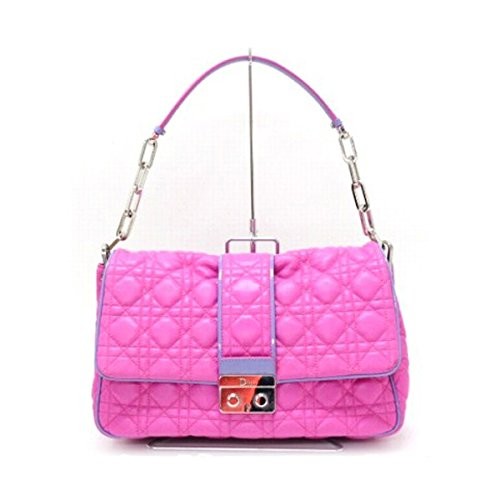 (クリスチャン・ディオール) Christian Dior ミスディオール カナージュ チェーンショルダーバッグ ピンク×パープル [中古]