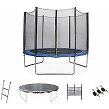 ALICE'S GARDEN - Garden Trampoline - Mars 10ft Trampoline with Safety Enclosure Netting - Blue - PRO Quality   EU Standards