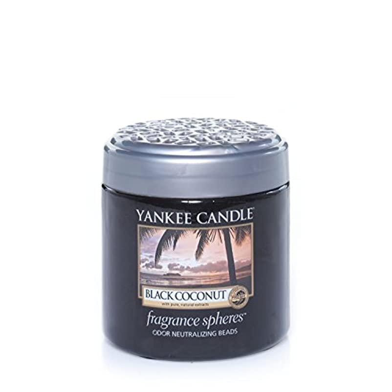輝度畝間しゃがむYankee Candleブラックヤシの実、新鮮な香り付き Fragrance Spheres Odor Neutralizing Beads ブラック 1295642E
