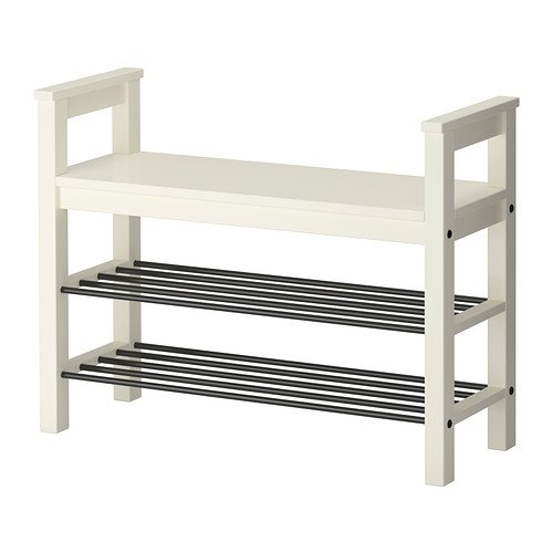 IKEA ベンチwith靴ストレージ ホワイト
