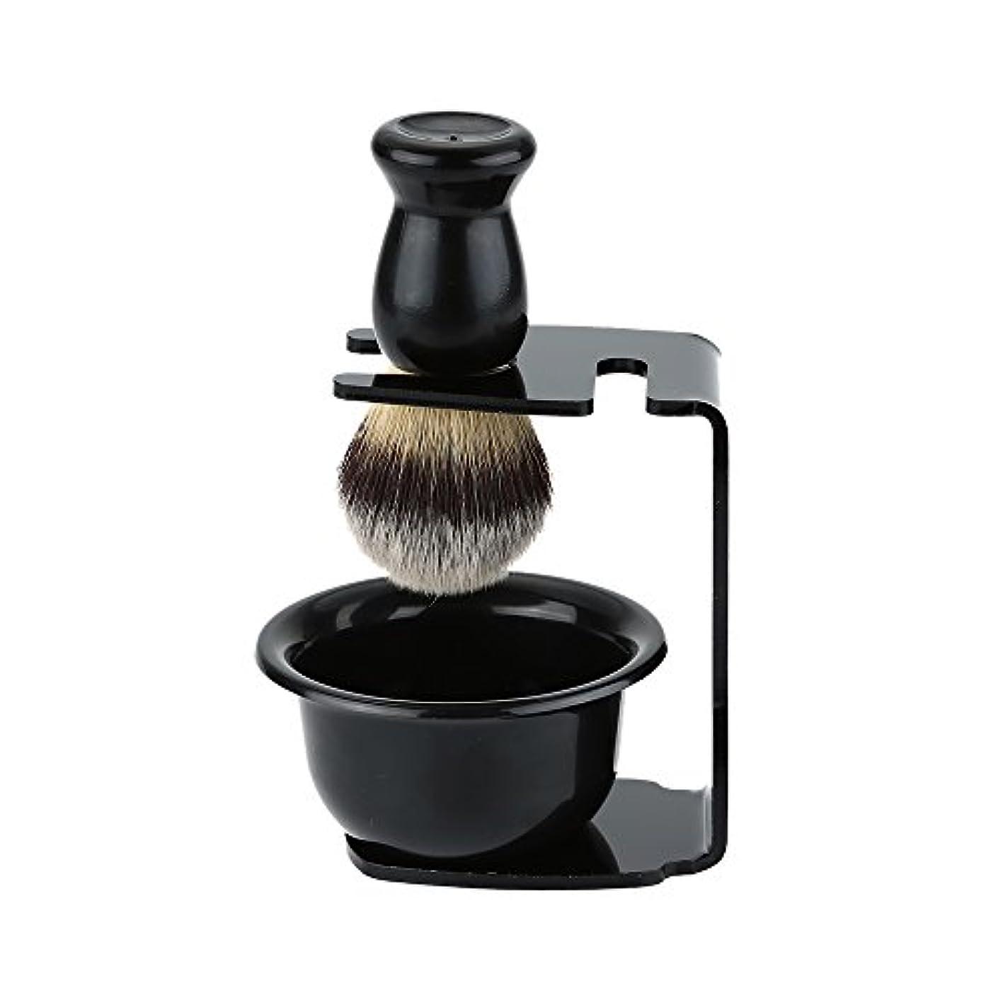 皿ポールミニチュアDecdeal シェービングセット ひげブラシ 髭剃り 泡立ち メンズ シェービングツール