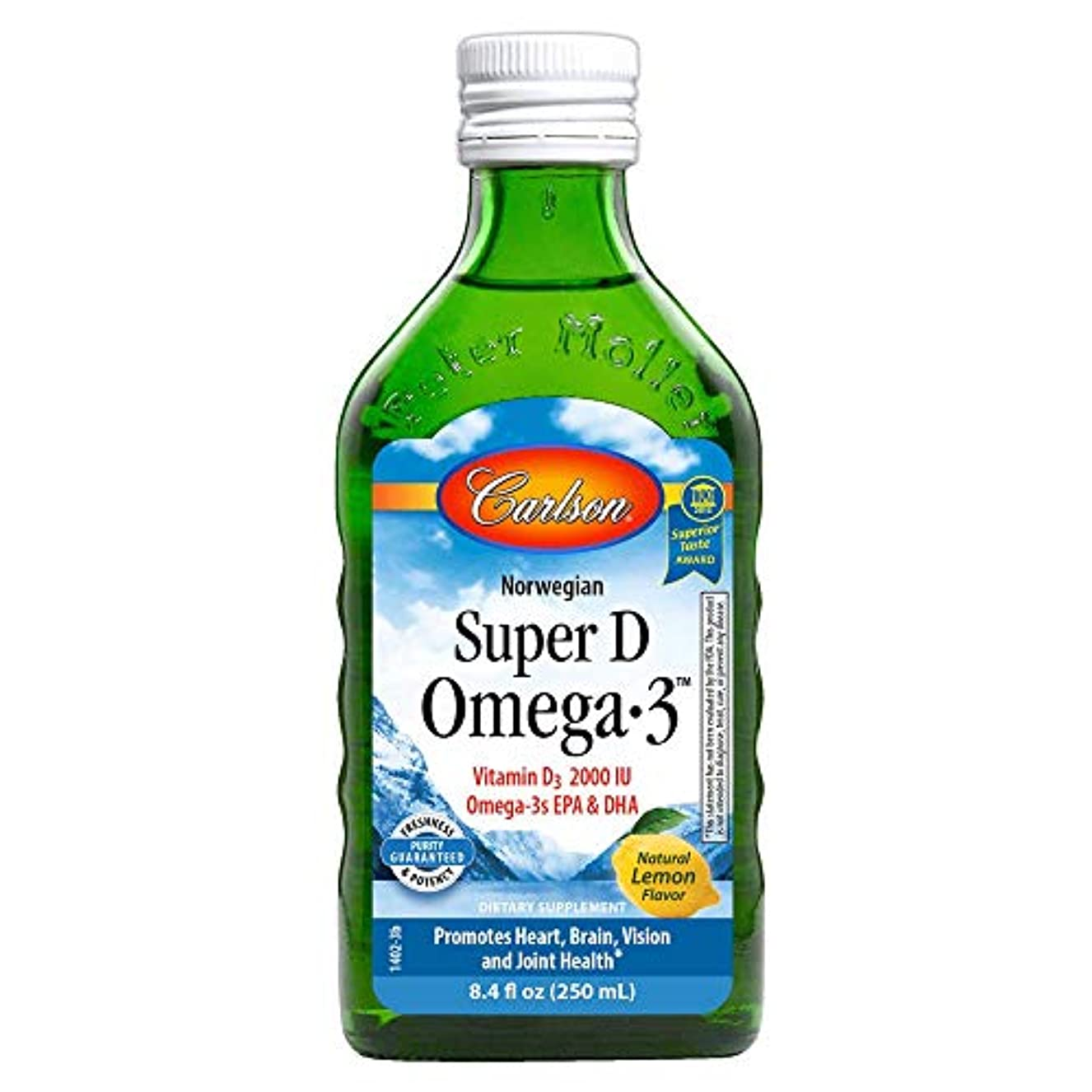 発明するズーム磨かれたCarlson Labs - D Omega-3 スーパー液体レモン 2000 IU - 8.4ポンド