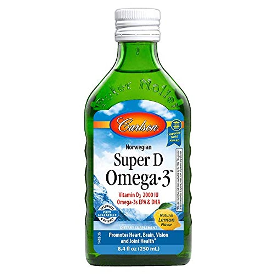 厚くするいつでもバンクCarlson Labs - D Omega-3 スーパー液体レモン 2000 IU - 8.4ポンド