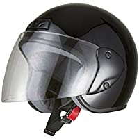 バイクパーツセンター バイクヘルメット ジェット ブラック 7201 FREE (頭囲 57cm~60cm未満)