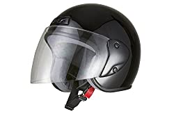 バイクパーツセンター バイクヘルメット ジェット ブラック FREE (57cm~60cm未満) 7201