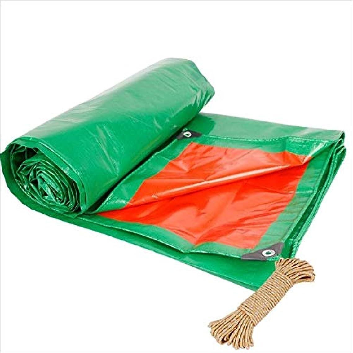 対称キャンペーンしょっぱい防水シート、日よけ防水多目的防水老化防止厚みの防水シート、190g /㎡、複数サイズ GAOFENG (色 : 緑, サイズ さいず : 4 x 6m)