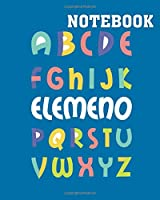 Notebook: elemeno alphabet print preschool teacher tees - 50 sheets, 100 pages - 8 x 10 inches