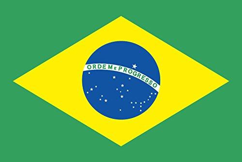世界の国旗 ブラジル 国旗 手旗サイズ [ 50×75cm 高級テトロン製 ]