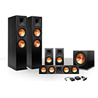 Klipsch 5.1rp-260参照Premiereスピーカーパッケージwith r-112swサブウーハーとワイヤレスキット(エボニー)