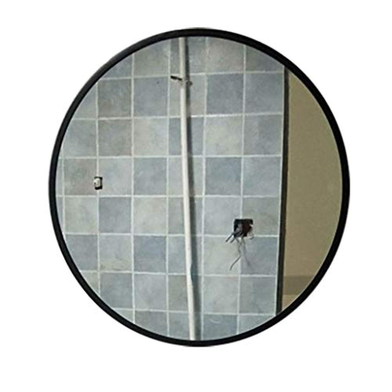 東ティモール堂々たる電圧TYJ-JP 鏡化粧鏡壁掛け鏡装飾鏡 HD化粧鏡北欧風鏡プリンセス鏡フリーパンチガラス鏡 (Color : Black, Size : 50*50cm)