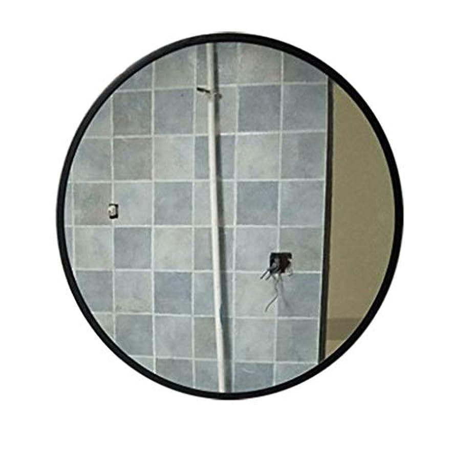 短くするに向けて出発仕方TYJ-JP 鏡化粧鏡壁掛け鏡装飾鏡 HD化粧鏡北欧風鏡プリンセス鏡フリーパンチガラス鏡 (Color : Black, Size : 50*50cm)