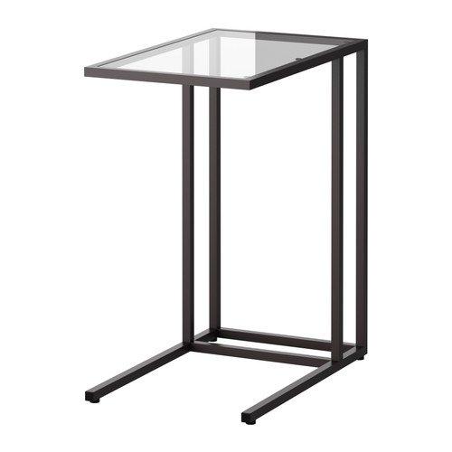 IKEA(イケア) VITTSJO ラップトップスタンド ブラックブラウン ガラス