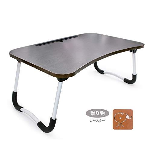 YINGYU ローテーブル ラップトップテーブル ピクニック軽量折り畳みテーブル (ブラック 60X40X29cm)