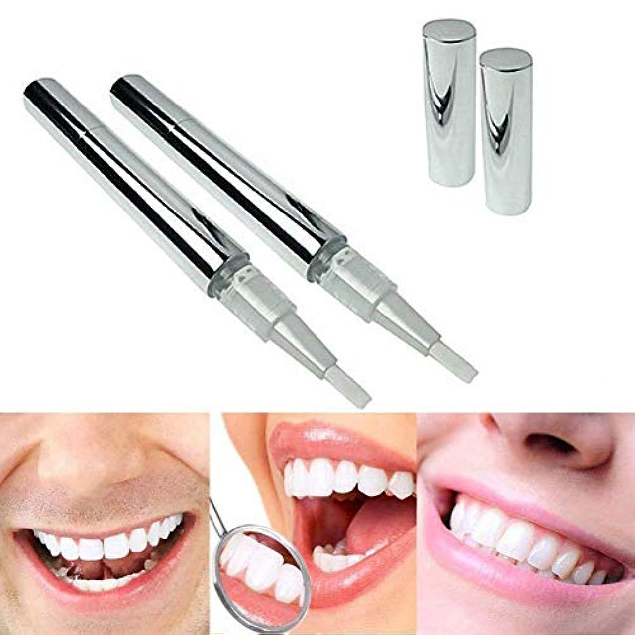 Odette 美白歯ゲル 歯 ホワイトニングペン ホワイトニングペン 歯ブラシ 輝く笑顔 口臭防止 歯周病防止 2本 (01)