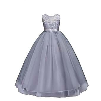 Amazon | AOIF 子供ドレス ロングドレス 女の子 ジュニア ピアノ ...
